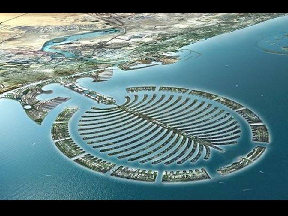 Wyspa – Palma Nowoczesna technologia holenderskich inżynierów pozwoliła na wybudowanie wielu takich wysp. To największe na świecie zgrupowanie sztuczn