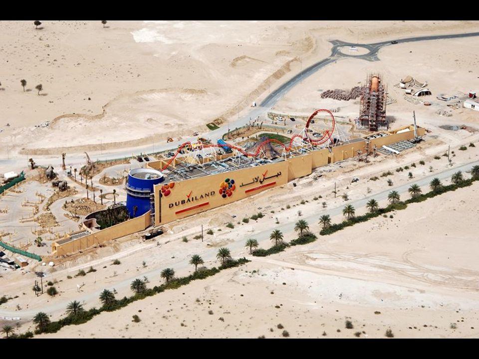 Dubailand Jak na razie największym centrum rozrywki jest Walt Disney w Orlando - zapewnia 58 000 miejsc pracy. Dubailand będzie dwa razy większy.