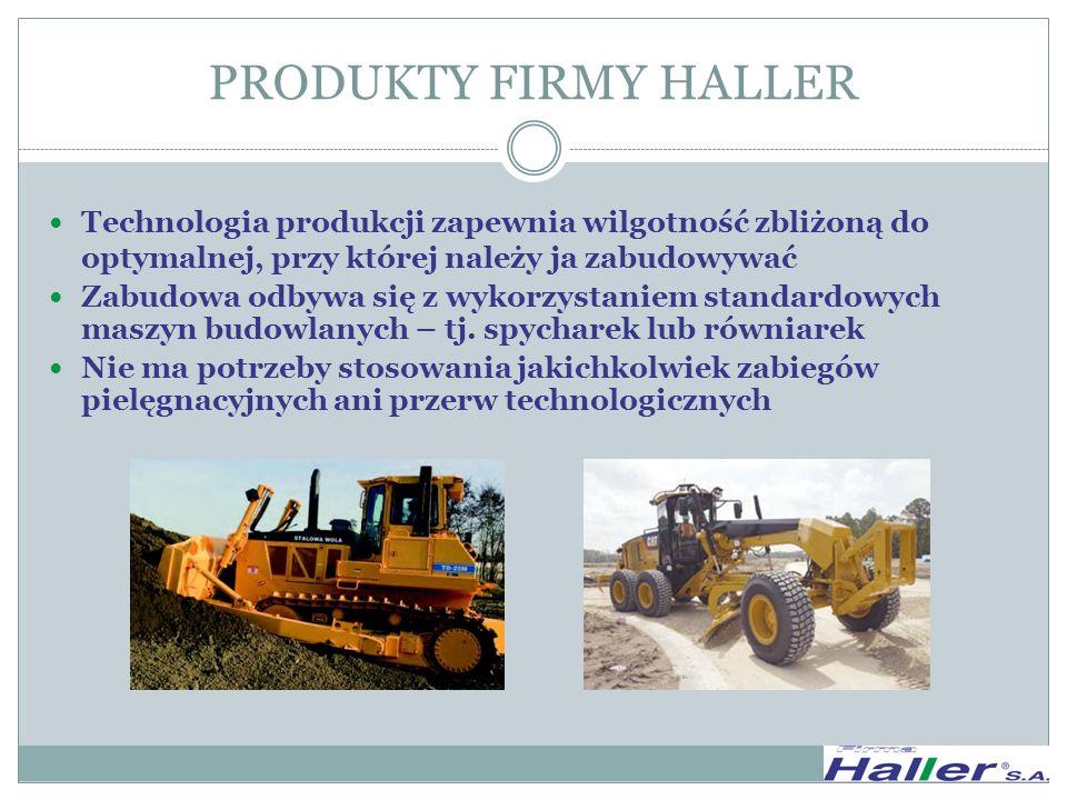 ASPEKT PRAWNY Wyroby Firmy Haller SA są produkowane i wprowadzane do obrotu w budownictwie na podstawie aprobaty technicznej : AT/2008-03-2392 Materiały i mieszanka fluidalna HALLER do zastosowań w budownictwie drogowym, wydanej przez IBDiM w Warszawie.