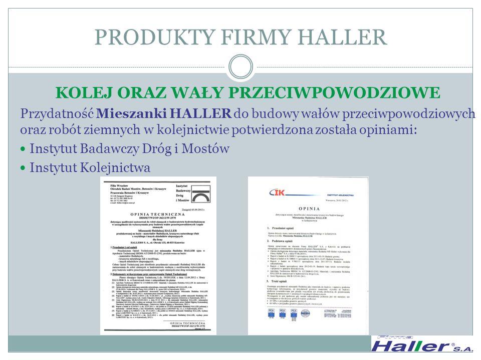 REALIZACJE FIRMY HALLER S.A.