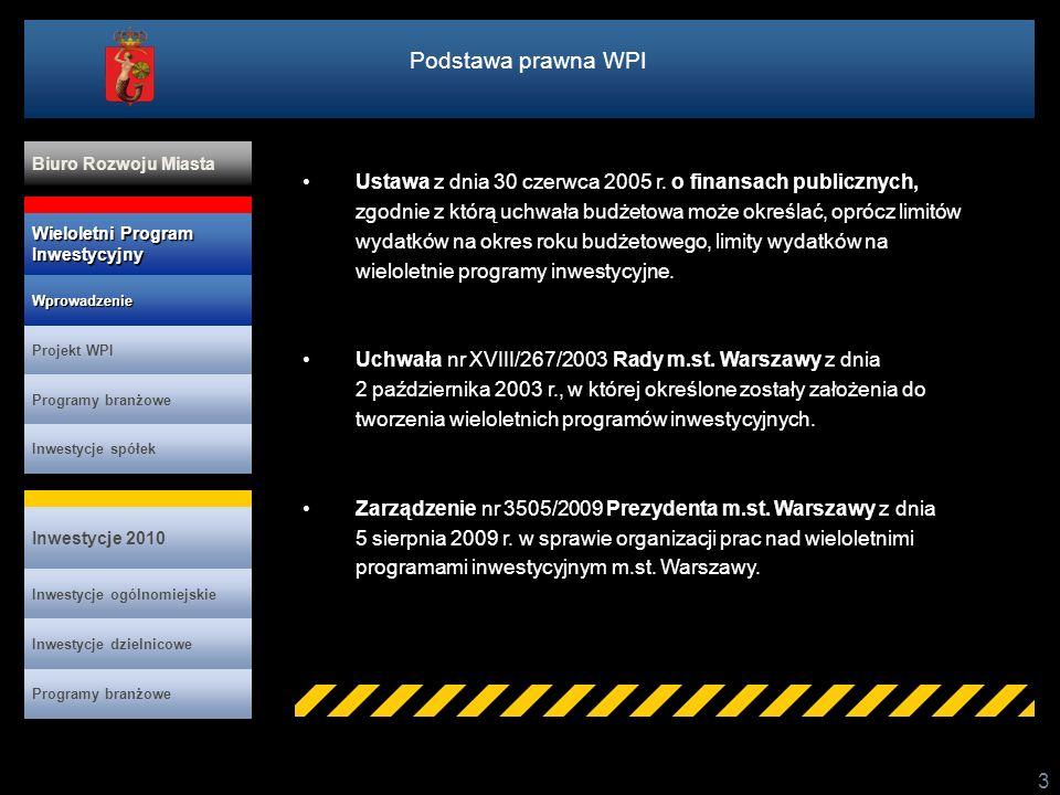 Program rozwoju drogownictwa (cd.) 34 Wybrane zadania: Modernizacja Alei Jerozolimskich - zadanie III - budowa węzła Łopuszańska - Kleszczowa Budowa Trasy Świętokrzyskiej na odc.