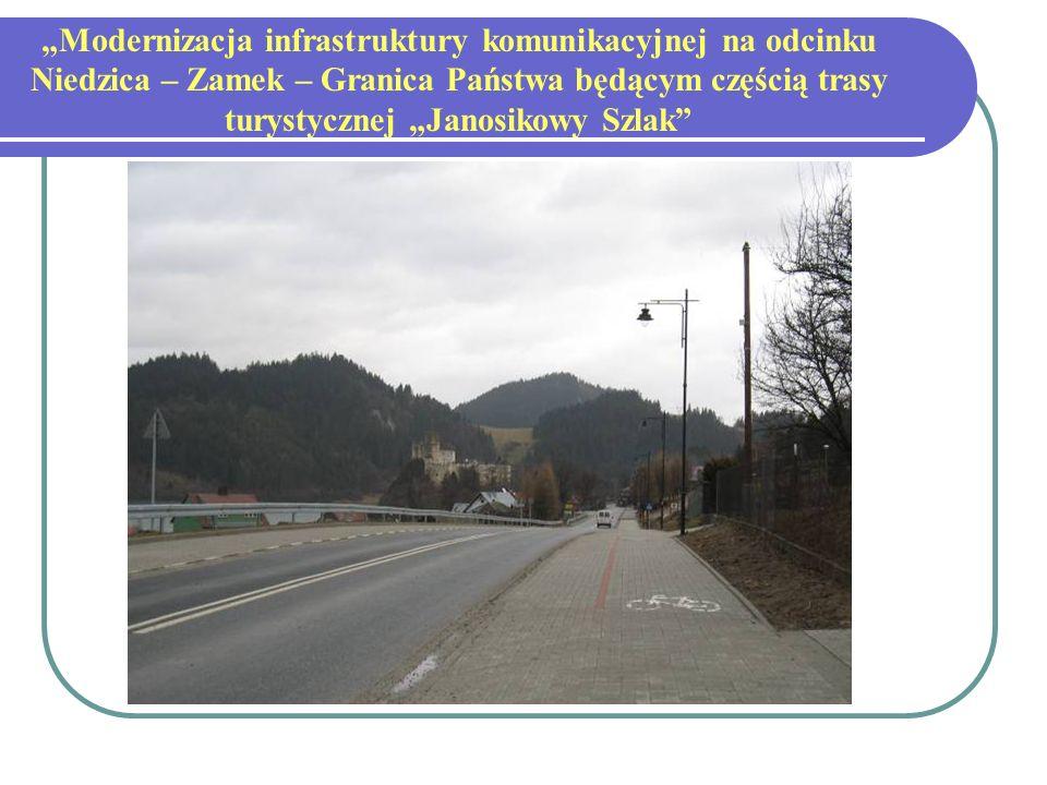 Modernizacja infrastruktury komunikacyjnej na odcinku Niedzica – Zamek – Granica Państwa będącym częścią trasy turystycznej Janosikowy Szlak