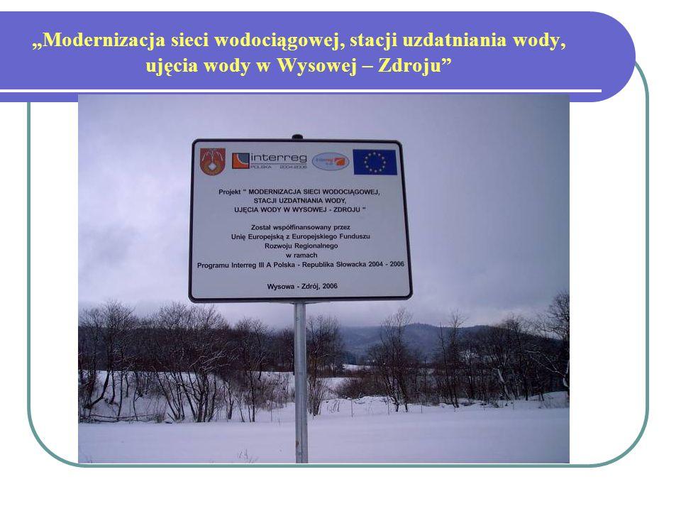 Modernizacja sieci wodociągowej, stacji uzdatniania wody, ujęcia wody w Wysowej – Zdroju