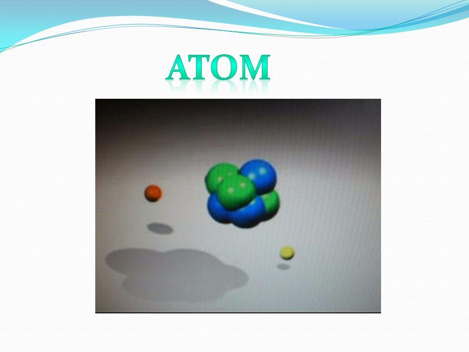 Atom- najmniejsza część pierwiastka zachowująca jego własności chemiczne.