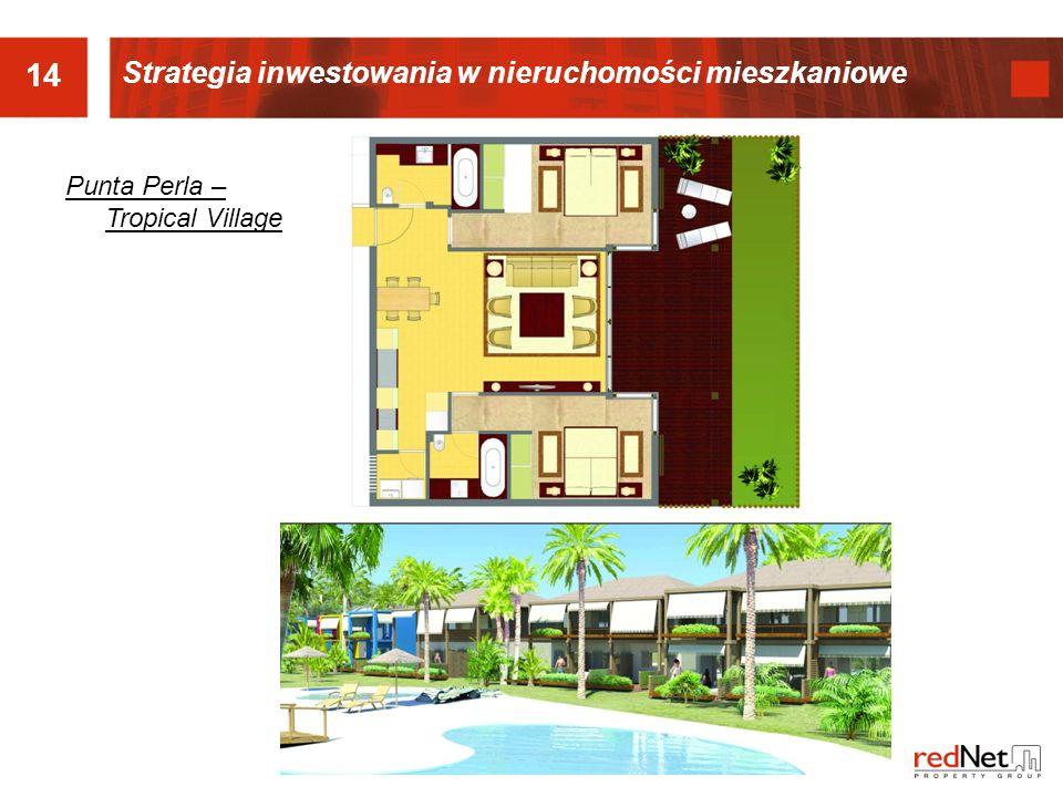 14 Punta Perla – Tropical Village Strategia inwestowania w nieruchomości mieszkaniowe