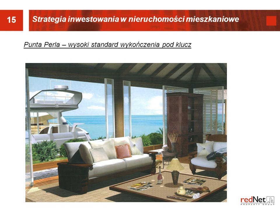 15 Punta Perla – wysoki standard wykończenia pod klucz Strategia inwestowania w nieruchomości mieszkaniowe