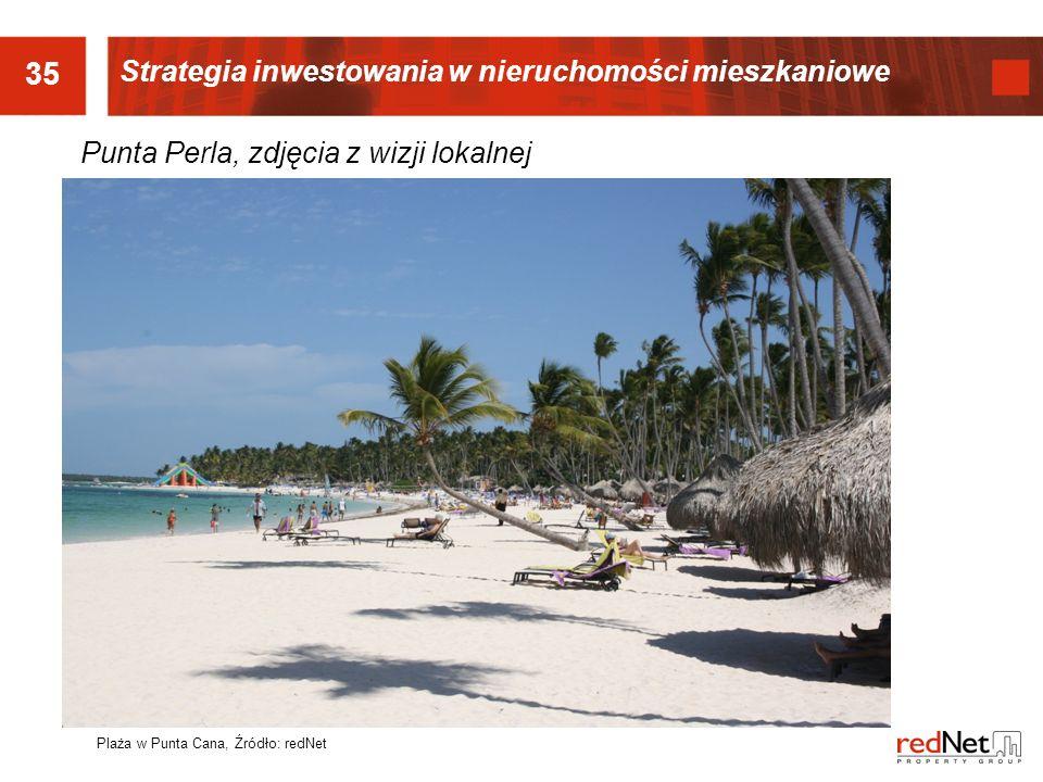 35 Punta Perla, zdjęcia z wizji lokalnej Plaża w Punta Cana, Źródło: redNet Strategia inwestowania w nieruchomości mieszkaniowe