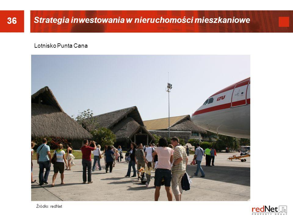36 Źródło: redNet Lotnisko Punta Cana Strategia inwestowania w nieruchomości mieszkaniowe