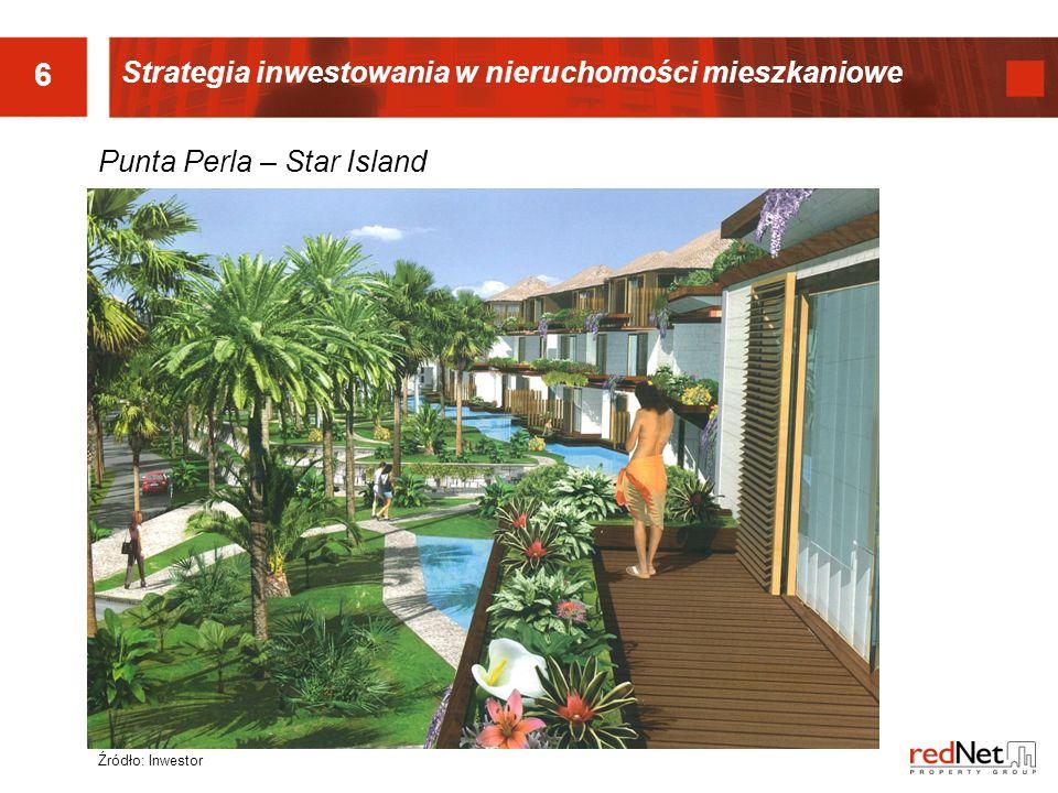 6 Punta Perla – Star Island Źródło: Inwestor Strategia inwestowania w nieruchomości mieszkaniowe