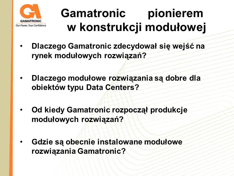 Gamatronicpionierem w konstrukcji modułowej Dlaczego Gamatronic zdecydował się wejść na rynek modułowych rozwiązań? Dlaczego modułowe rozwiązania są d