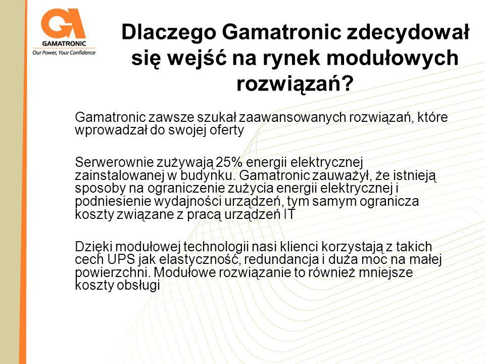 Dlaczego Gamatronic zdecydował się wejść na rynek modułowych rozwiązań? Gamatronic zawsze szukał zaawansowanych rozwiązań, które wprowadzał do swojej