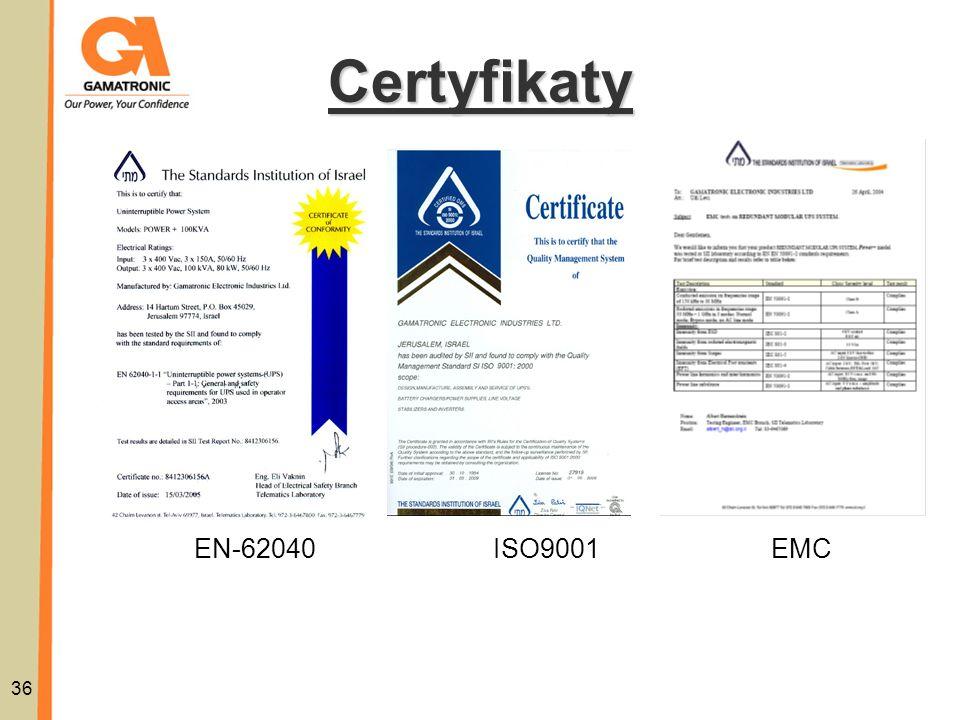 Certyfikaty 36 ISO9001EN-62040EMC