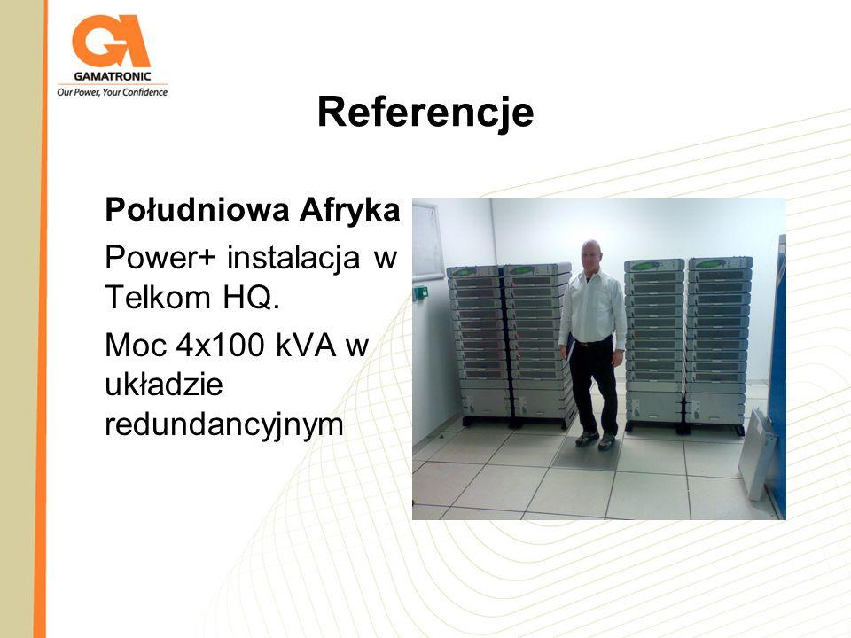 Referencje Południowa Afryka Power+ instalacja w Telkom HQ. Moc 4x100 kVA w układzie redundancyjnym