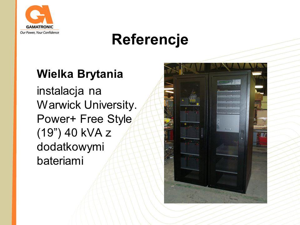 Referencje Wielka Brytania instalacja na Warwick University. Power+ Free Style (19) 40 kVA z dodatkowymi bateriami