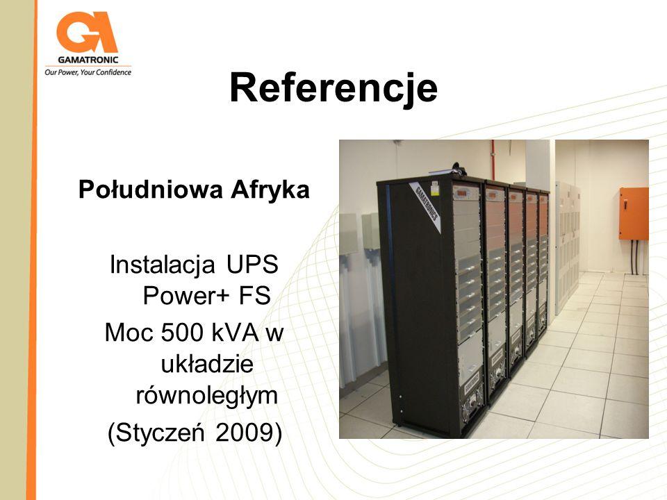 Referencje Południowa Afryka Instalacja UPS Power+ FS Moc 500 kVA w układzie równoległym (Styczeń 2009)