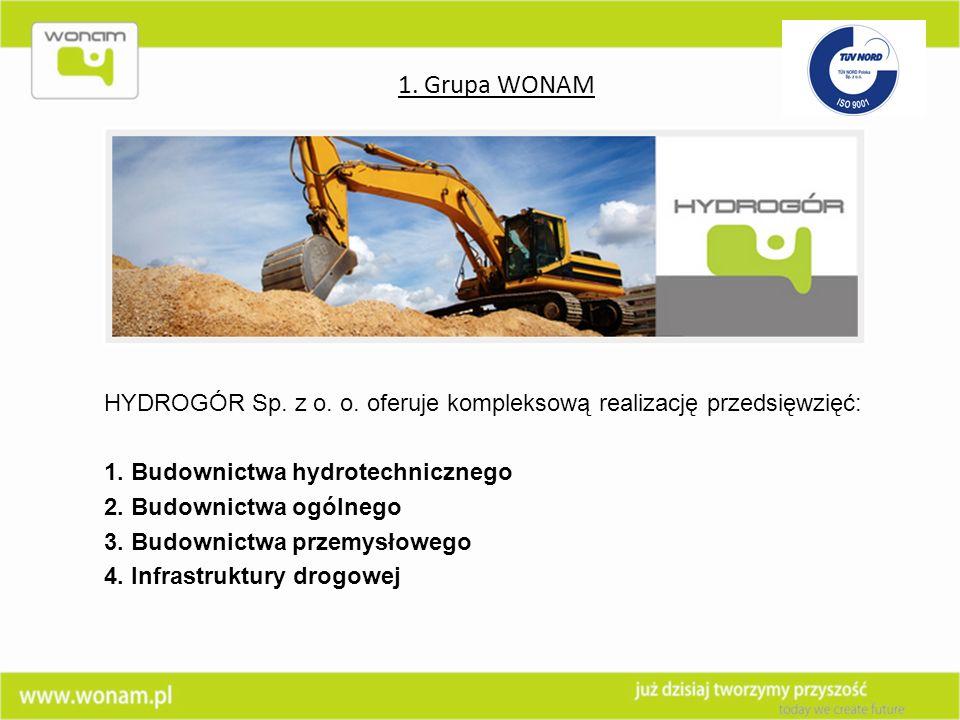 HYDROGÓR Sp. z o. o. oferuje kompleksową realizację przedsięwzięć: 1. Budownictwa hydrotechnicznego 2. Budownictwa ogólnego 3. Budownictwa przemysłowe