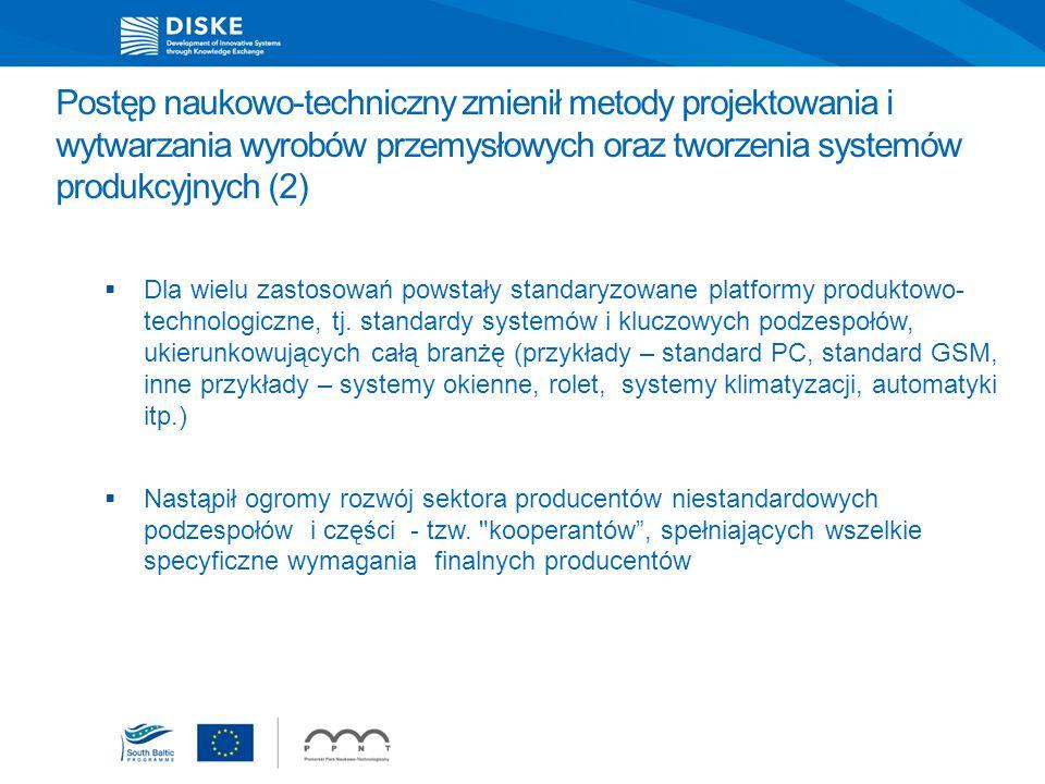 Postęp naukowo-techniczny zmienił metody projektowania i wytwarzania wyrobów przemysłowych oraz tworzenia systemów produkcyjnych (2) Dla wielu zastoso