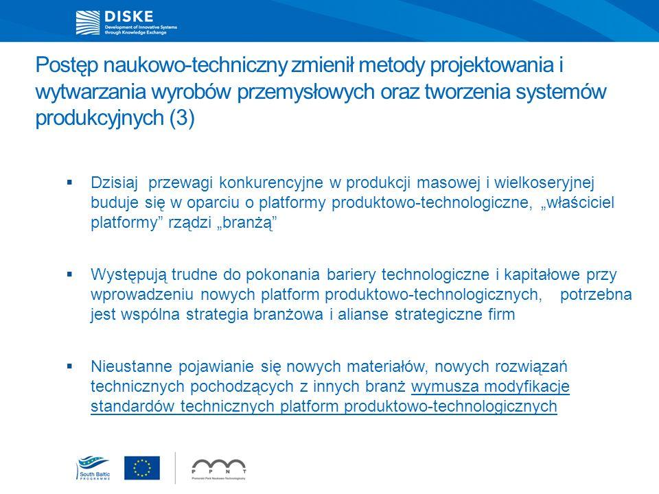 Postęp naukowo-techniczny zmienił metody projektowania i wytwarzania wyrobów przemysłowych oraz tworzenia systemów produkcyjnych (3) Dzisiaj przewagi