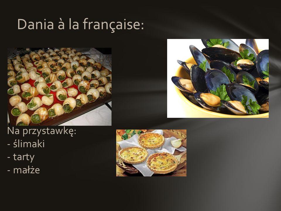La Haute Cuisine (Kuchnia Wykwintna) jest domeną najwybitniejszych profesjonalistów. La Nouvelle Cuisine (Kuchnia Nowoczesna) była współczesną interpr