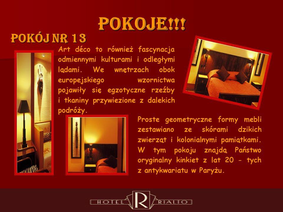 POKOJE!!. Pokój nr 13 Art déco to również fascynacja odmiennymi kulturami i odległymi lądami.