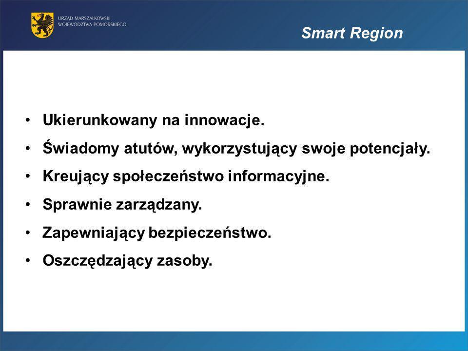 Smart Region Ukierunkowany na innowacje. Świadomy atutów, wykorzystujący swoje potencjały. Kreujący społeczeństwo informacyjne. Sprawnie zarządzany. Z