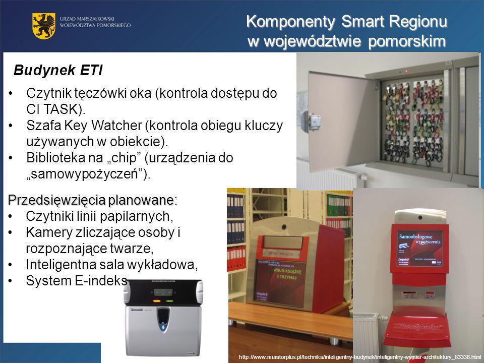 Czytnik tęczówki oka (kontrola dostępu do CI TASK). Szafa Key Watcher (kontrola obiegu kluczy używanych w obiekcie). Biblioteka na chip (urządzenia do