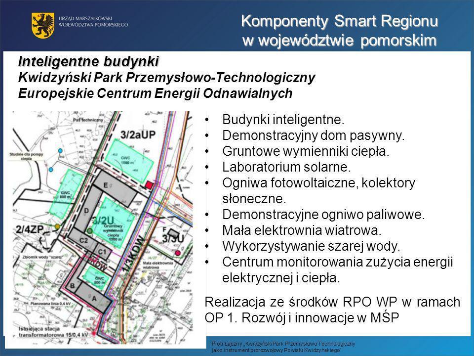 Inteligentne budynki Kwidzyński Park Przemysłowo-Technologiczny Europejskie Centrum Energii Odnawialnych Budynki inteligentne. Demonstracyjny dom pasy