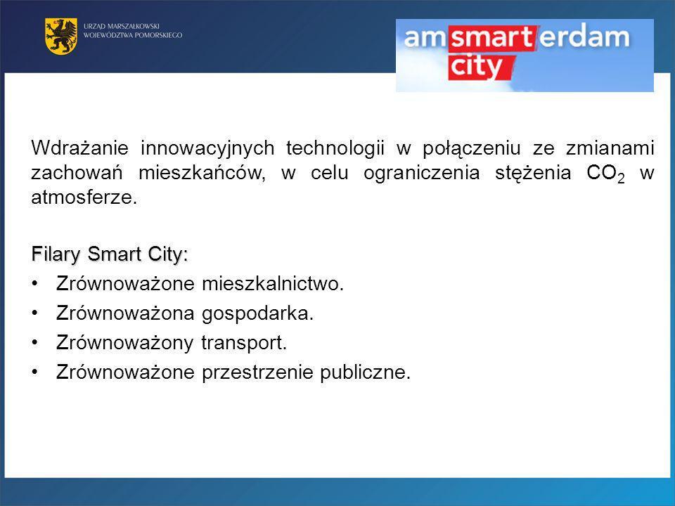 Filary Smart City: Zrównoważone mieszkalnictwo. Zrównoważona gospodarka. Zrównoważony transport. Zrównoważone przestrzenie publiczne. Wdrażanie innowa