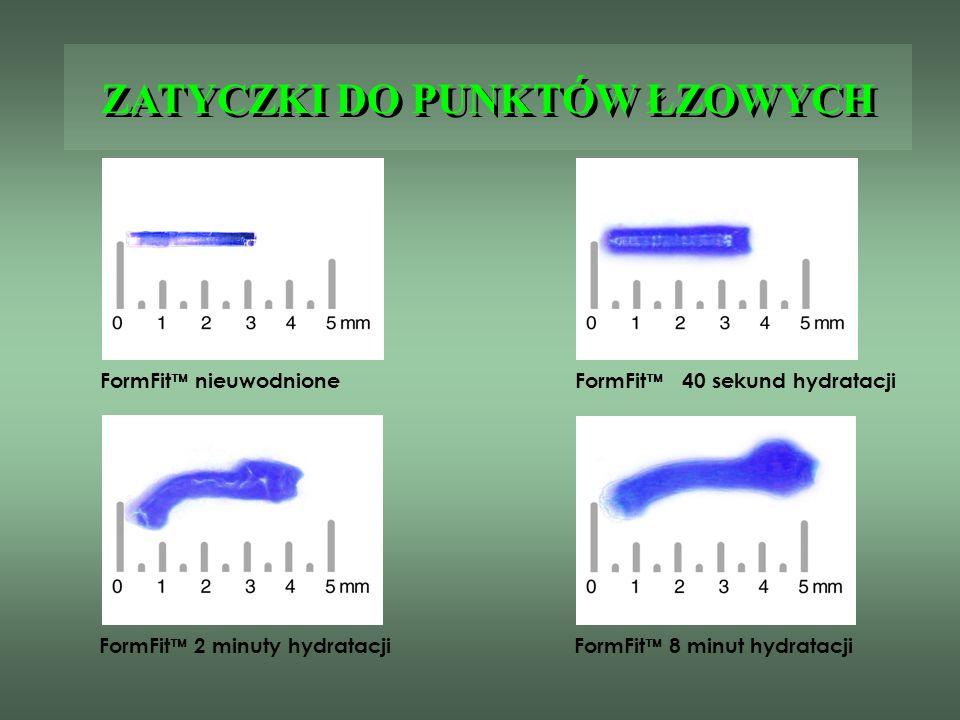 ZATYCZKI DO PUNKTÓW ŁZOWYCH FormFit nieuwodnioneFormFit 40 sekund hydratacji FormFit 2 minuty hydratacjiFormFit 8 minut hydratacji