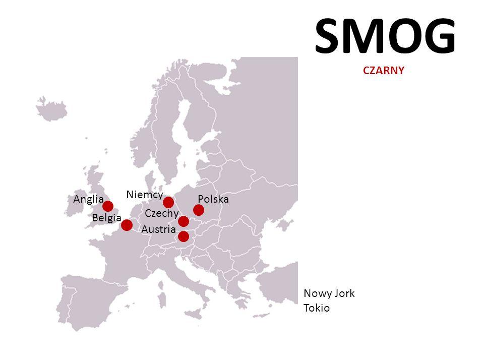 SMOG CZARNY Belgia Austria Niemcy Anglia Czechy Polska Nowy Jork Tokio
