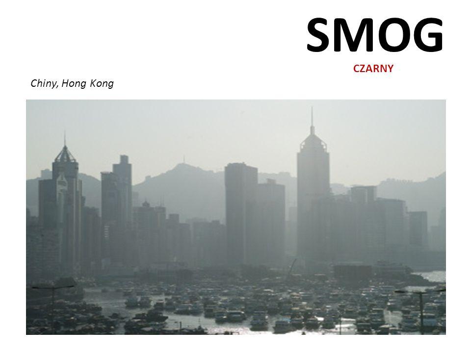 SMOG CZARNY Chiny, Hong Kong