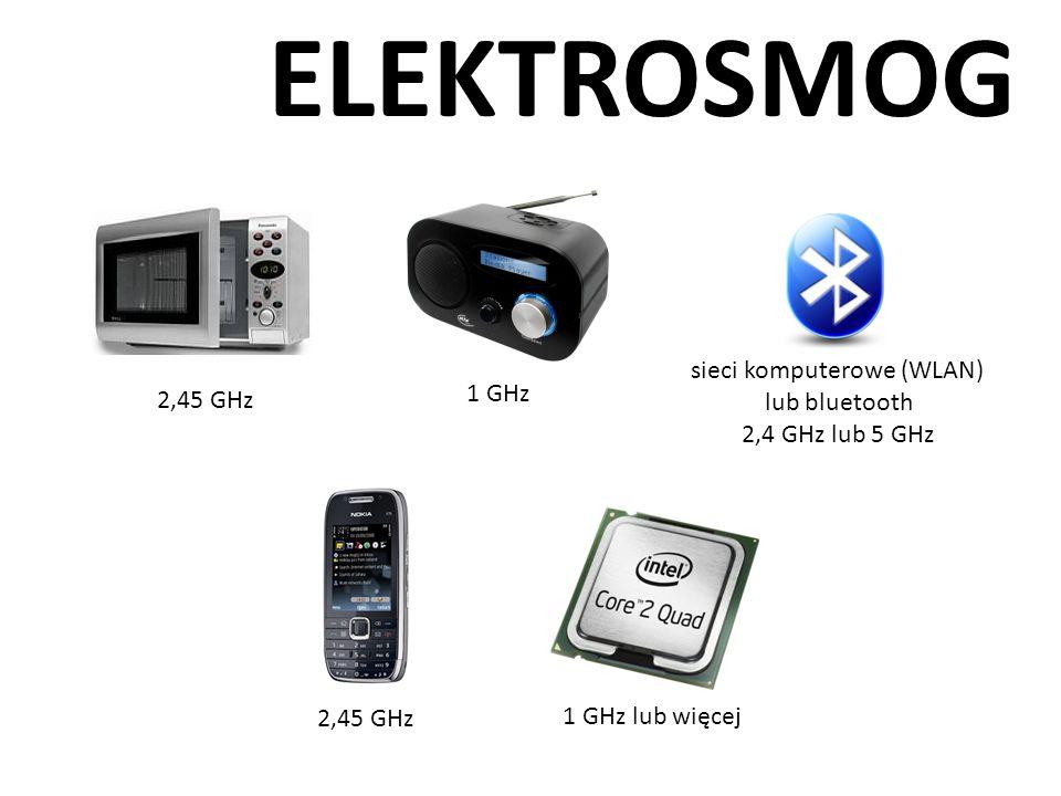 ELEKTROSMOG 2,45 GHz 1 GHz sieci komputerowe (WLAN) lub bluetooth 2,4 GHz lub 5 GHz 1 GHz lub więcej 2,45 GHz