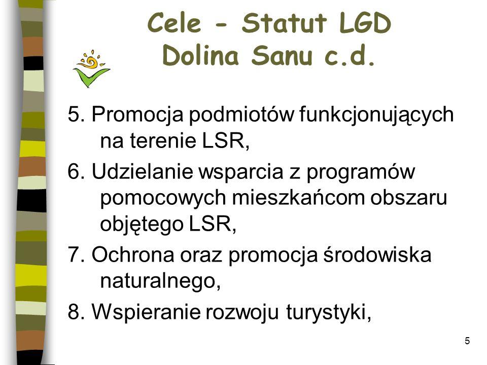 16 Zasady wdrażania projektów przez LGD Dolina Sanu 3.