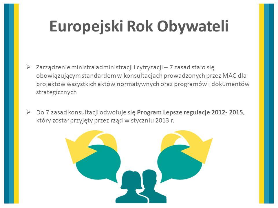 Zarządzenie ministra administracji i cyfryzacji – 7 zasad stało się obowiązującym standardem w konsultacjach prowadzonych przez MAC dla projektów wszy