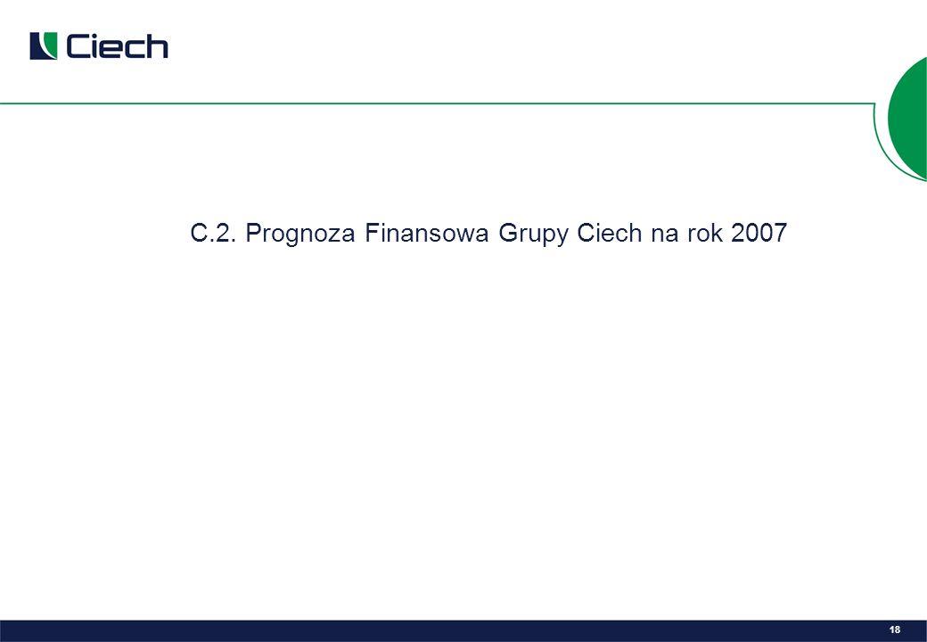 C.2. Prognoza Finansowa Grupy Ciech na rok 2007 18