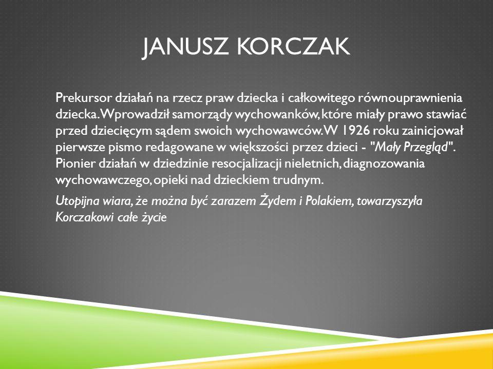 Korczak urodził się w Warszawie w spolonizowanej rodzinie żydowskiej, jako syn adwokata Józefa Goldszmita i Cecylii z domu Gębickiej.