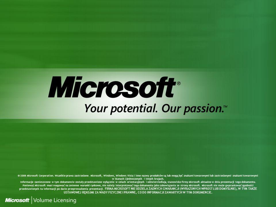 © 2008 Microsoft Corporation. Wszelkie prawa zastrzeżone.