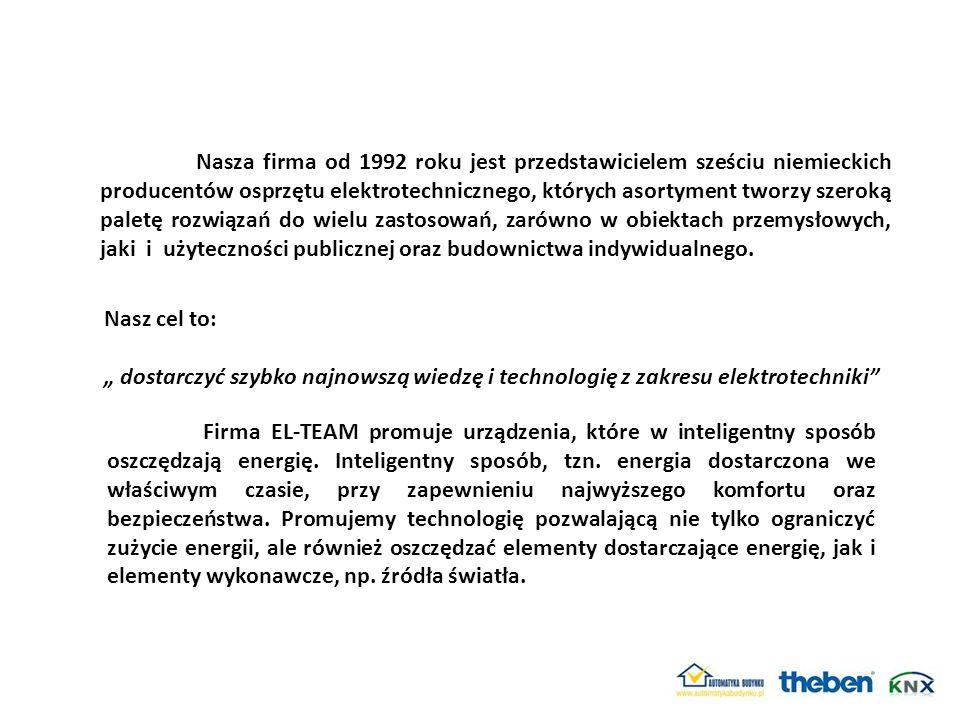 Nasza firma od 1992 roku jest przedstawicielem sześciu niemieckich producentów osprzętu elektrotechnicznego, których asortyment tworzy szeroką paletę
