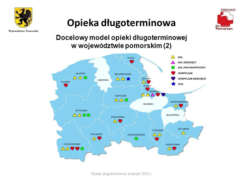 Opieka długoterminowa Opieka długoterminowa kwiecień 2010 r. Docelowy model opieki długoterminowej w województwie pomorskim (2)