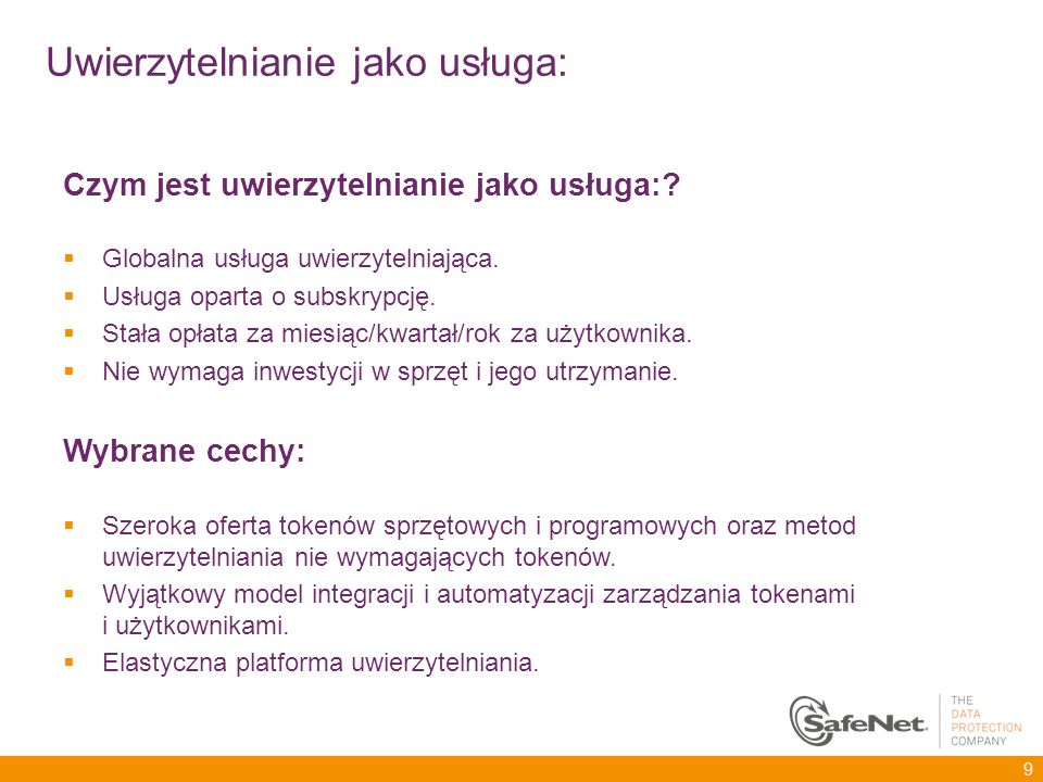 Kilka przydatnych informacji na koniec Strony producenta oraz Clico: http://www2.safenet-inc.com/sas/index.html http://www.clico.pl/rozwiazania/producenci/safenet/safenet-authentication-service Notki prasowe: http://channelnomics.com/2012/10/03/safenet-launches-cloud-authentication-service/ http://www.crn.com/news/security/240008427/safenet-rolls-out-authentication-service-for- enterprise-security-providers.htm http://www.cloudcow.com/content/integralis-leverages-new-safenet-authentication-service- power-their-cloud-authentication Materiały na YouTube Po prostu wpisz CryptoCard w pole wyszukiwania 30