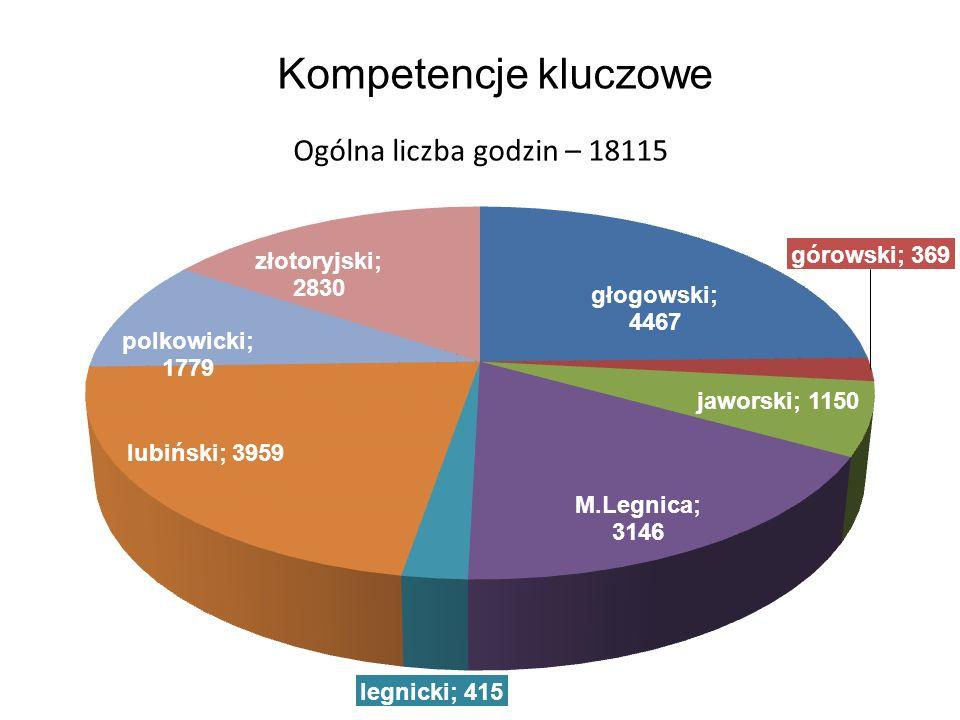 Kompetencje kluczowe Ogólna liczba godzin – 18115