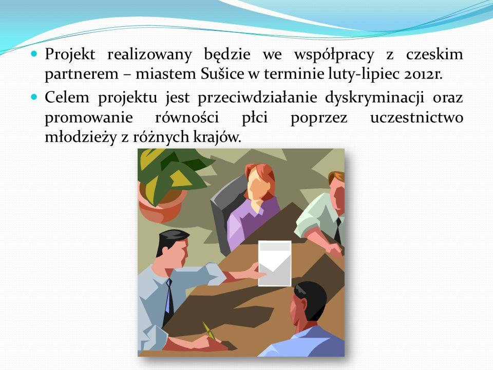 Projekt realizowany będzie we współpracy z czeskim partnerem – miastem Sušice w terminie luty-lipiec 2012r.
