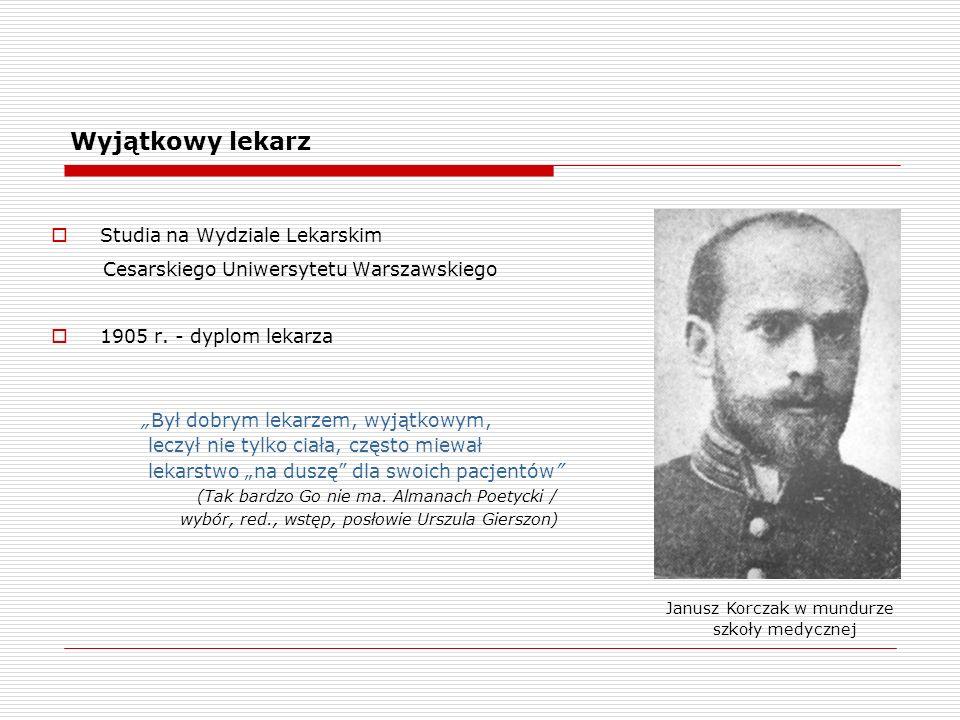 Wyjątkowy lekarz Studia na Wydziale Lekarskim Cesarskiego Uniwersytetu Warszawskiego 1905 r.