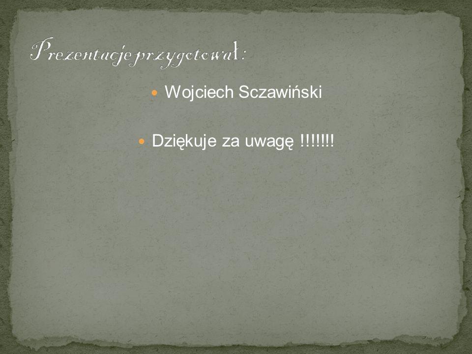 Wojciech Sczawiński Dziękuje za uwagę !!!!!!!