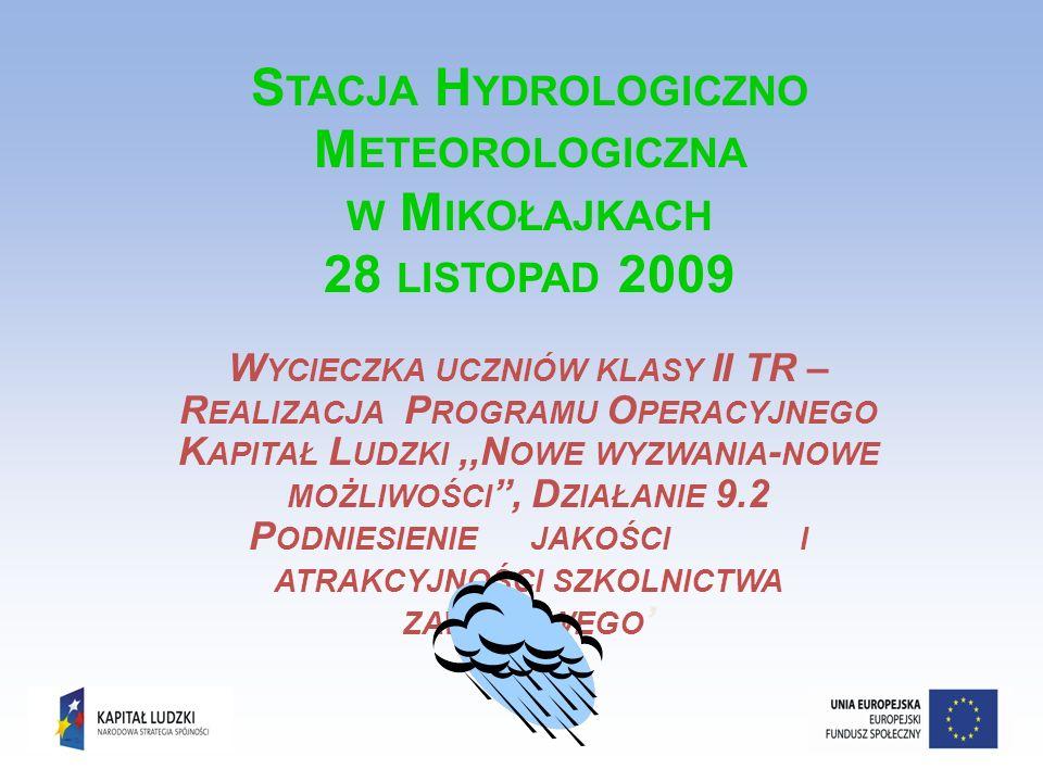 Ogródek meteorologiczny Ogródek meteorologiczny powinien być urządzony w terenie otwartym.