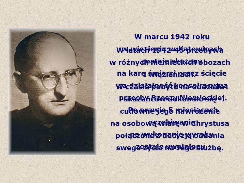 Po zakończeniu wojny wstąpił do Śląskiego Seminarium Duchownego w Krakowie, a po jego ukończeniu 25 czerwca 1950 roku przyjął święcenia kapłańskie.