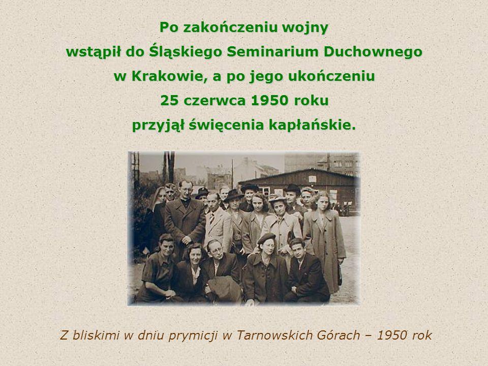 W latach 1954-56, w okresie wysiedlenia biskupów, uczestniczył w pracach tajnej Kurii w Katowicach uczestniczył w pracach tajnej Kurii w Katowicach i organizował powrót biskupów śląskich do diecezji.
