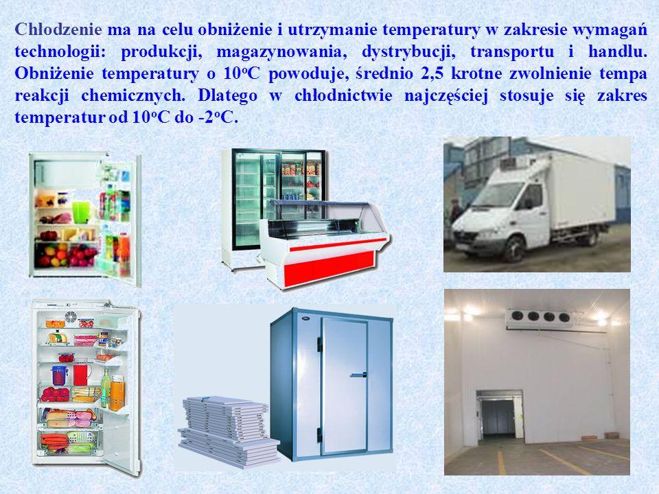 Chłodzenie ma na celu obniżenie i utrzymanie temperatury w zakresie wymagań technologii: produkcji, magazynowania, dystrybucji, transportu i handlu.