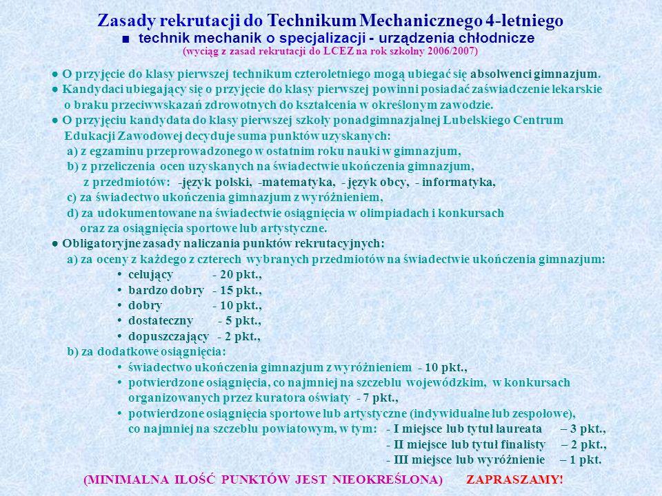 Lubelskie Centrum Edukacji Zawodowej im.Krzysztofa Kamila Baczyńskiego 20-143 Lublin ul.