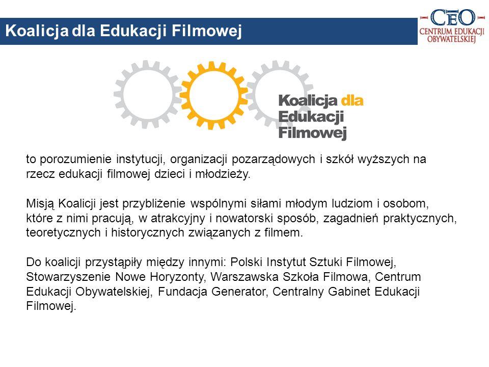 to porozumienie instytucji, organizacji pozarządowych i szkół wyższych na rzecz edukacji filmowej dzieci i młodzieży.